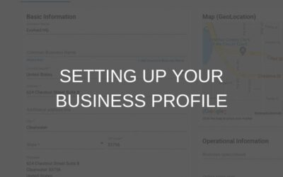 Setting Up Your Business Profile
